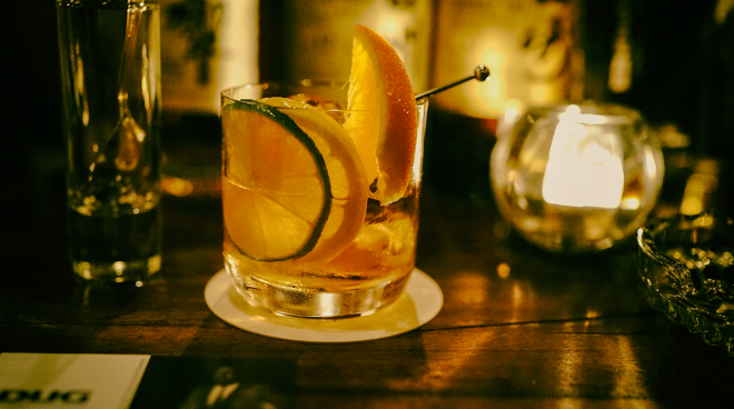 Old-Fashioned cocktail kiểu Nhật.