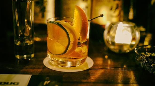 Old-Fashioned cocktail kiểu Nhật.